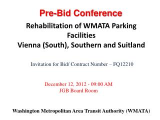 Washington Metropolitan Area Transit Authority WMATA