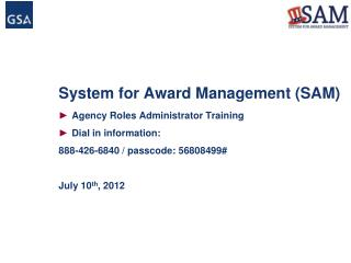 System for Award Management SAM