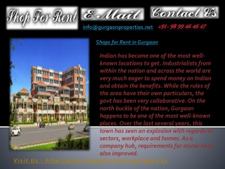 Shops for Rent in Gurgaon