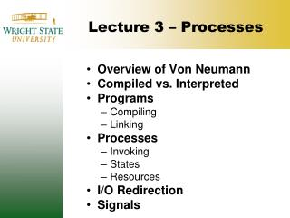 Lecture 3   Processes