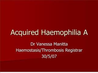 acquired haemophilia a