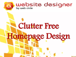 Clutter Free Homepage Design