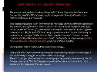 What Exactly is Identity Federation