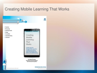 Creating Mobile Learning That Works
