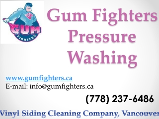Commercial Gum Removal Vancouver
