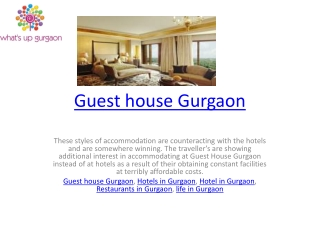 Guest house Gurgaon