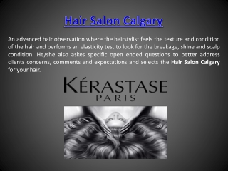 Hair Salons Calgary