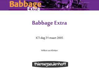 Babbage Extra