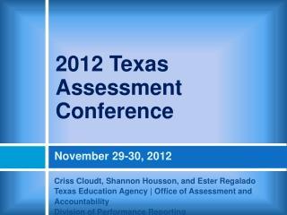 November 29-30, 2012