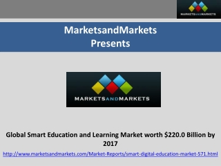 Smart Education and Learning Market 2012-2017