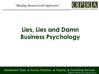Assessment Tools    Survey Solutions    Training    Consulting Services