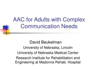 aac for adults with complex communication needs