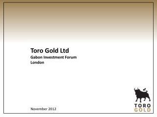 Toro Gold Ltd Gabon Investment Forum London