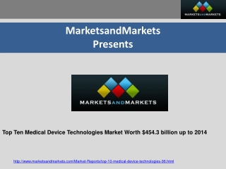 Global Top Ten Medical Device Technologies Market Worth $454