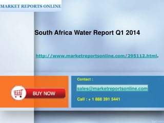 South Africa : Water Report