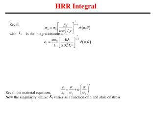 HRR Integral