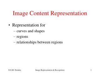 Image Content Representation