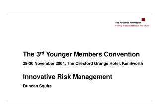 The 3rd Younger Members Convention