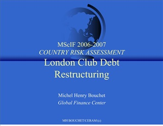 mscif 2006-2007  country risk assessment london club debt restructuring