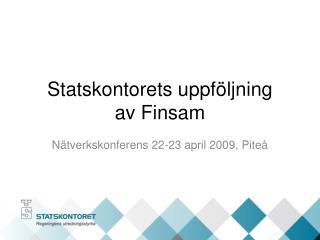 Statskontorets uppf ljning  av Finsam