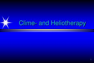 Clime- and Heliotherapy