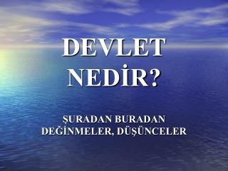 DEVLET NEDIR