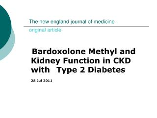 The new england journal of medicine            original article