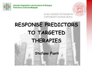 RESPONSE PREDICTORS TO TARGETED THERAPIES