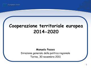 Cooperazione territoriale europea 2014-2020