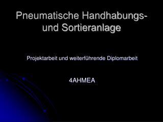 Pneumatische Handhabungs- und Sortieranlage