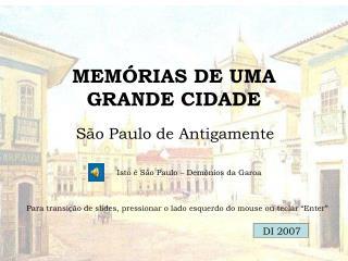 MEM RIAS DE UMA GRANDE CIDADE