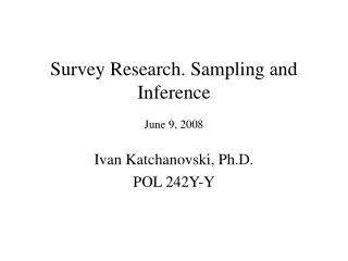 survey research: sampling