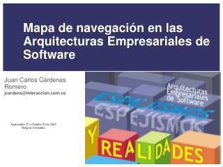 Mapa de navegaci n en las Arquitecturas Empresariales de Software
