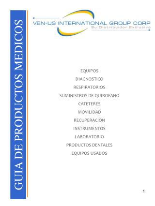 GUIA DE PRODUCTOS MEDICOS