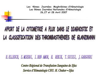APPORT  DE  LA  CYTOMETRIE  A  FLUX  DANS  LE  DIAGNOSTIC  ET