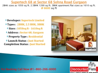 Supertech 68 Sector 68 Sohna Road Gurgaon - New Launch Resid