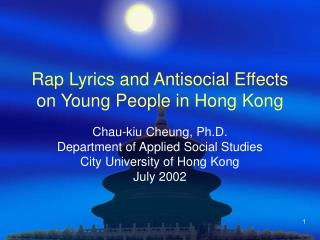 rap lyrics and antisocial effects on young people in hong kong