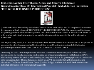 best-selling author peter thomas senese and carolyn vlk rele
