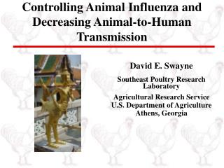 Controlling Animal Influenza and Decreasing Animal-to-Human Transmission