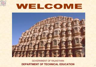 GOVERNMENT OF RAJASTHAN  DEPARTMENT OF TECHNICAL EDUCATION