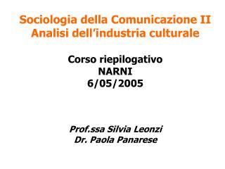 Sociologia della Comunicazione II  Programma d esame   Modulo D Cultura e consumi mediali:   3. Joshua Meyrowitz, Oltre