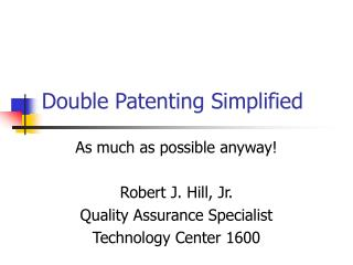 double patenting simplified
