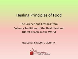 Healing Principles of Food