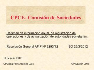 CPCE- Comisi n de Sociedades