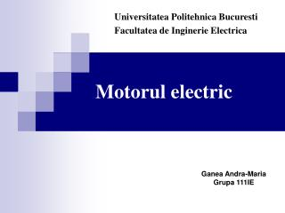Motorul electric