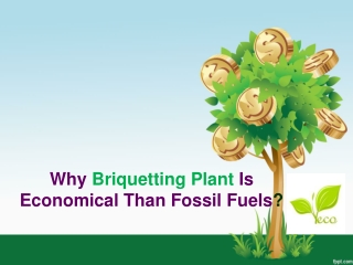 Why Briquetting Plant Is Economical Than Fossil Fuels?