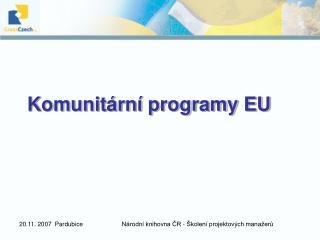 Komunit rn  programy EU