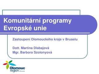 Komunit rn  programy Evropsk  unie