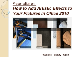 How to Add Artistic Effects to Your Pictures in Office 2010