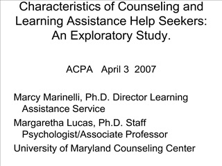 characteristics of counseling and learning assistance help seekers